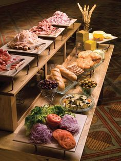 lunch buffet setup and displays - Google Search