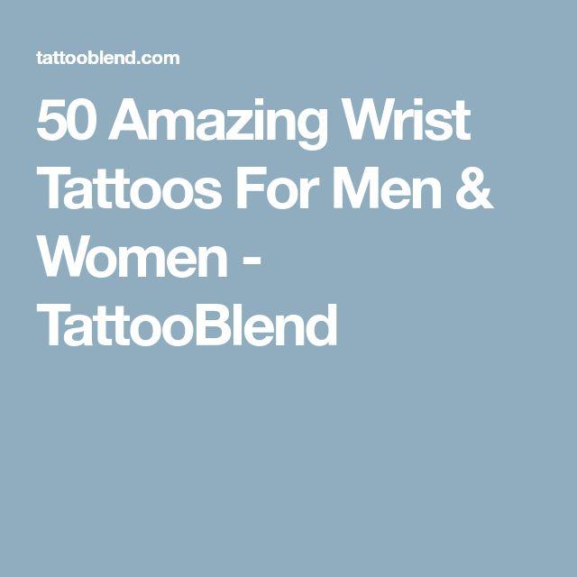 50 Amazing Wrist Tattoos For Men & Women - TattooBlend