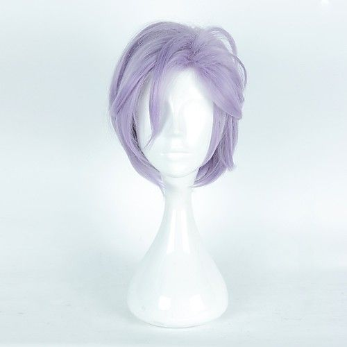 Women Synthetic Wig Capless Short Purple/Blue With Bangs Halloween Wig Cosplay Wig Costume Wig 2018 - $17.85