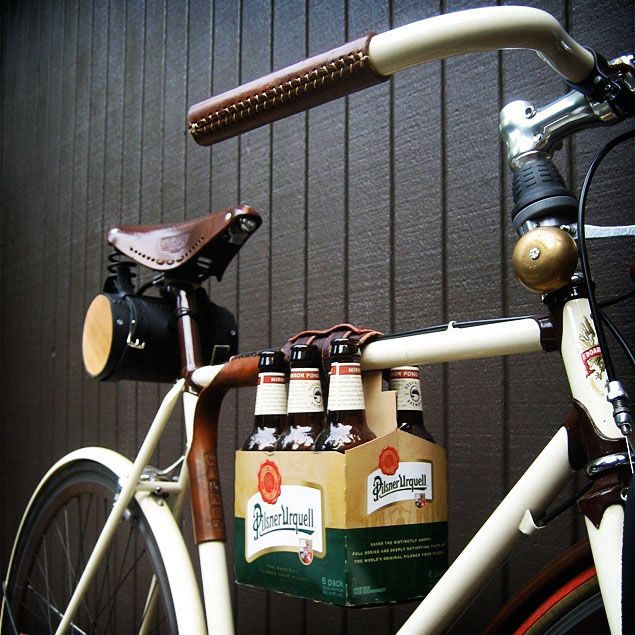 i need whatever mechanism attaches beer to bike. yes.