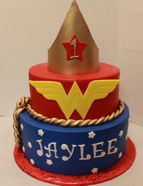 Wonder Woman 1st Birthday Cake Ideas Pinterest