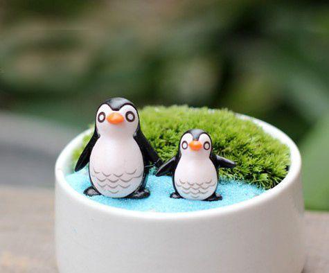 Продажа ~ 2 Шт. пингвин/фея садовый гном животных/мох террариум домашних настольных декора/ремесла/бонсай/кукольный дом/миниатюры/DIY/c011