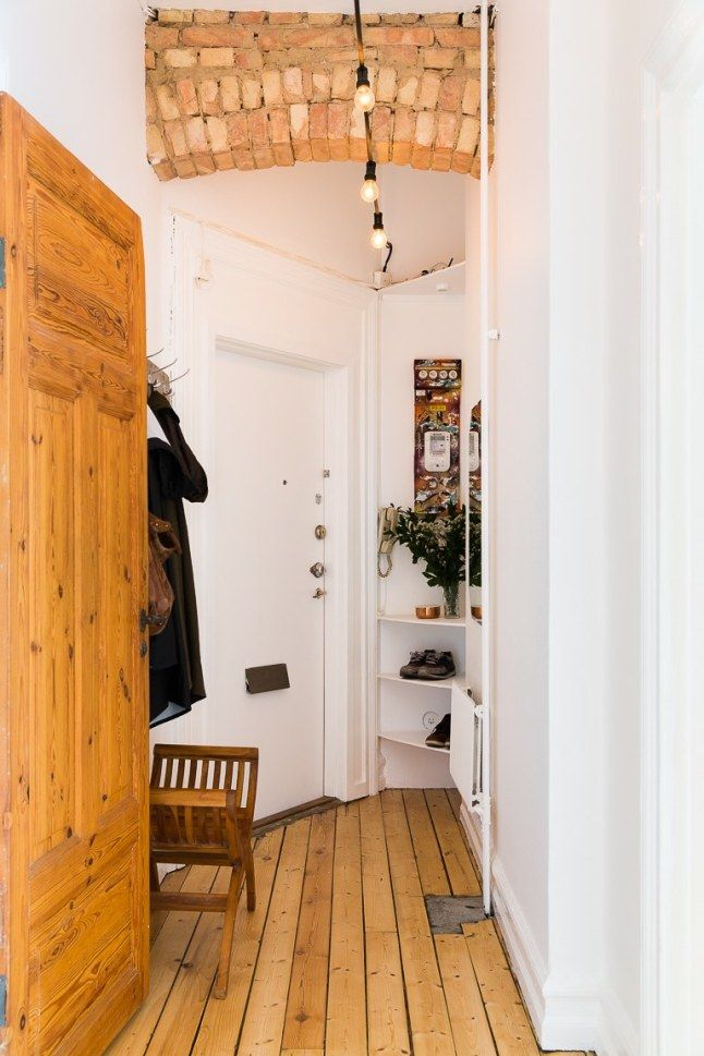 13 best hallway lighting images on pinterest runners foyers and hallway lighting - Hamper solutions for small spaces minimalist ...