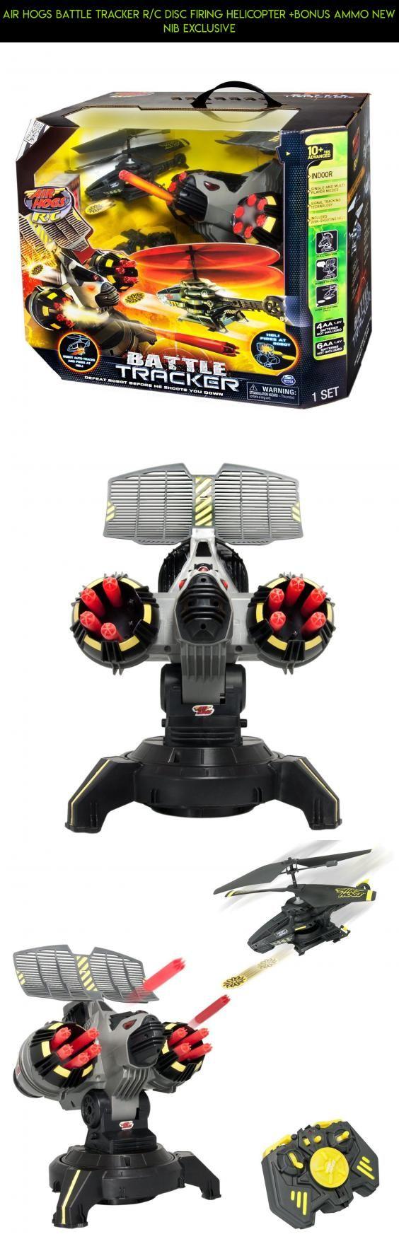 Air Hogs Battle Tracker R/C Disc Firing Helicopter +Bonus