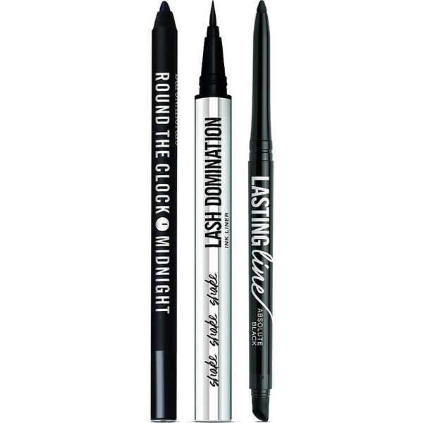 BARE MINERALS Smile. Laugh. Wink. eyeliner trio (£29) ❤ liked on Polyvore featuring beauty products, makeup, eye makeup, eyeliner, long wearing eyeliner, bare escentuals eyeliner, bare escentuals, long wear eyeliner and bare escentuals eye liner