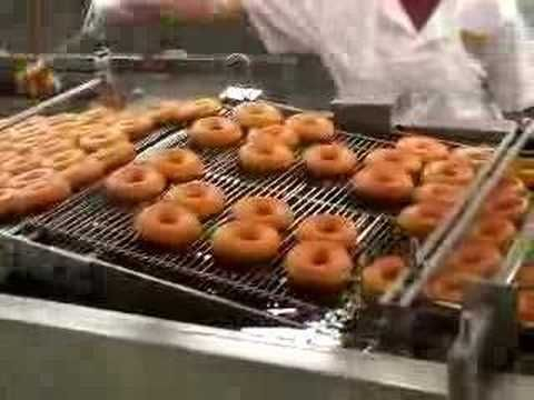 How Krispie Creme donuts are made.  To go with Homer Price in Sonlight Core B.