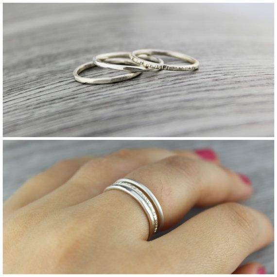 Silver stacking rings. Simple silver stacking by TempestSociety