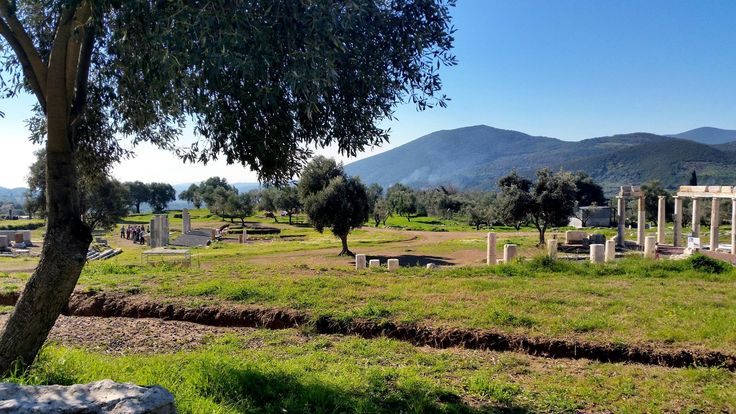 Ancient Messene in mid-February #ancientmessne #peloponnese #ancent #messene #greece #history #culture