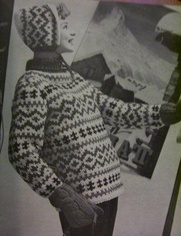 Vintage Knitting Patterns: Fair isle ski sweaters 1960s by vintagemode, via Flickr