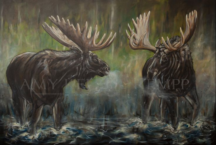 "Amy Keller-Rempp Art. ""King's Battle"", 48"" by 72"", acrylic on canvas. Original sold, available in giclee prints and fine art cards."