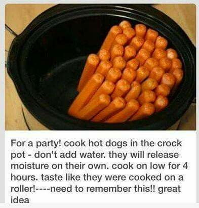 Hot dogs for a crowd