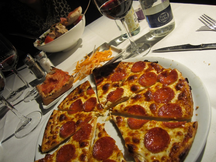 Homemade thin crust pepperoni pizza from Barcelona #food # ...