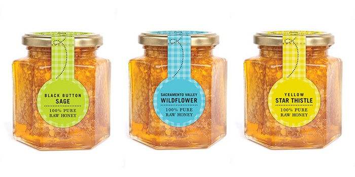 Client: Tauzer Apiaries Project: Sola Bee Farms honey packaging Design Firm: UNIT partners