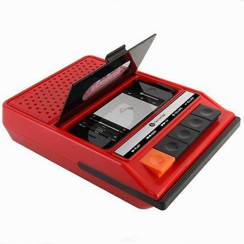 altavoz retro iPhone cassette