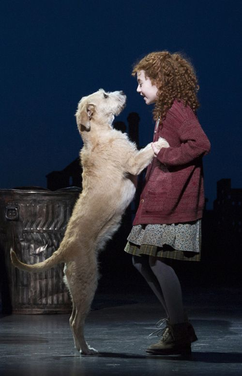 annie and sandy. I'm so sad I'm just a little old to do this show on broadway, well at least for Annie!