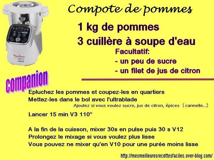 Recette compote maison (au companion)