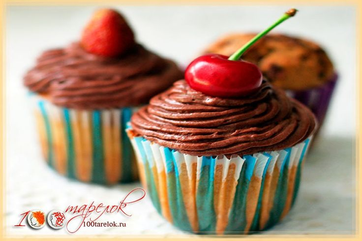 100 тарелок - Шоколадные капкейки