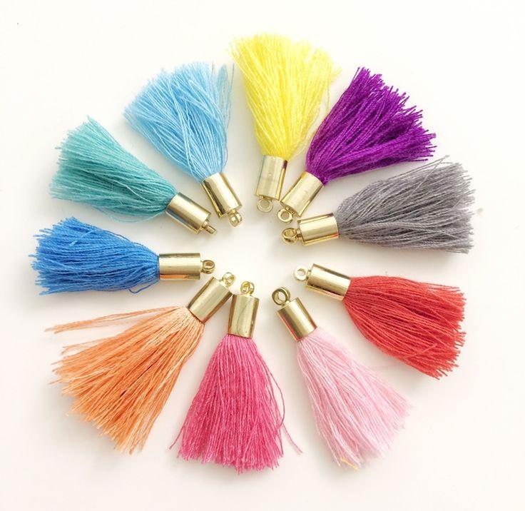 cute rainbow tassels