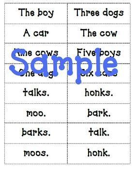 subject verb agreement lesson plan pdf