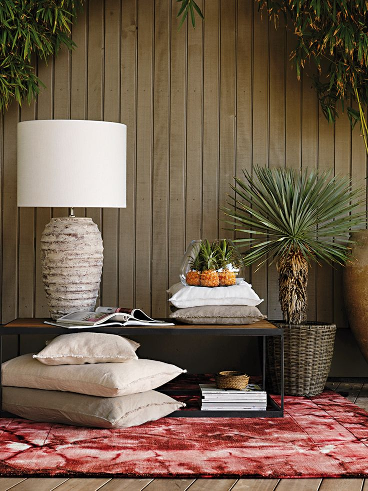 Table Light Ocean, Flowerpot Outdoor-Polycord by Pfister, Tropical Retro, Cushions, Cactuses, Indoor Ideas, Furnishing and Decoration Ideas, Decoration, Elegance and Style