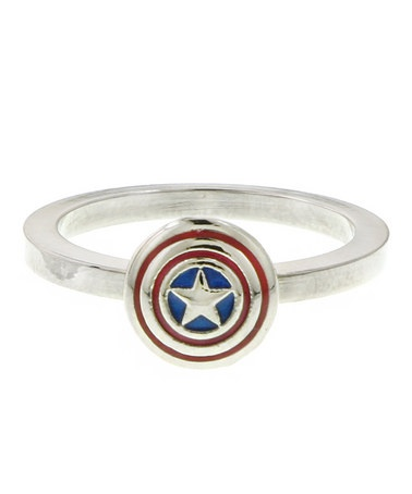 Captain America's mighty shield ringRing Sizes, Stackable Rings, Rings Accessories, Captain America Shields, Shields Stackable, Marvel Rings, Rings Captain, Captain America Rings, Rings Size