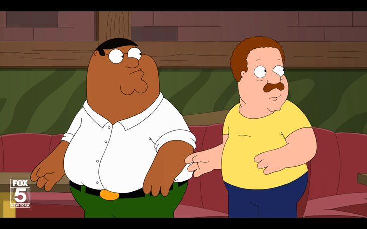 Peter & Cleveland switch pigments... He's Bla-ack! Family Guy, Season 12, Episode 20