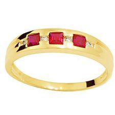 Created Ruby and Diamond eternity ring - BEE-24932-CR