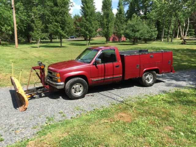 1994 Chevy Silverado 2500 Snow plow Utility Truck Landscaping ...