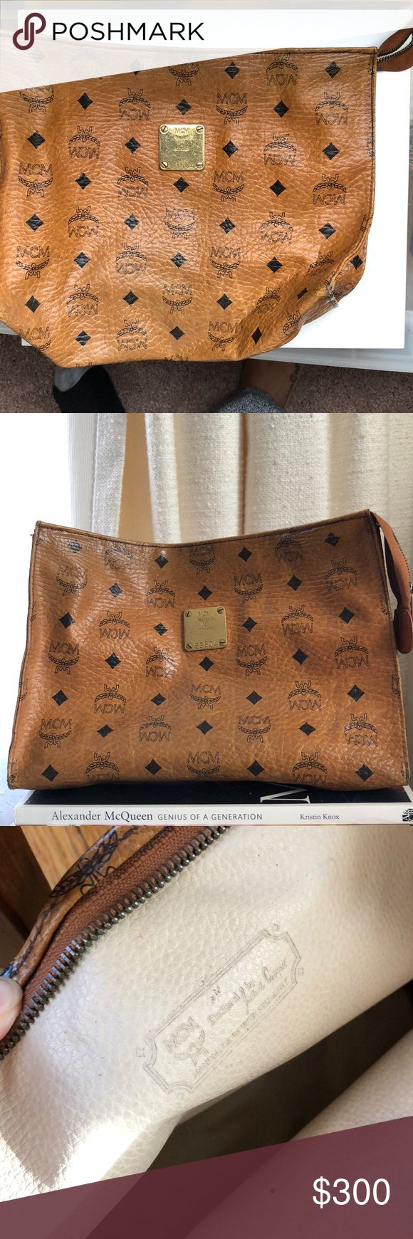 MCM Clutch - Vintage 100% Authentic. Great as a Clutch or makeup bag. MCM Bags Clutches & Wristlets