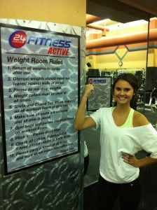 Easy, fast workout for college girls.... This could really work!