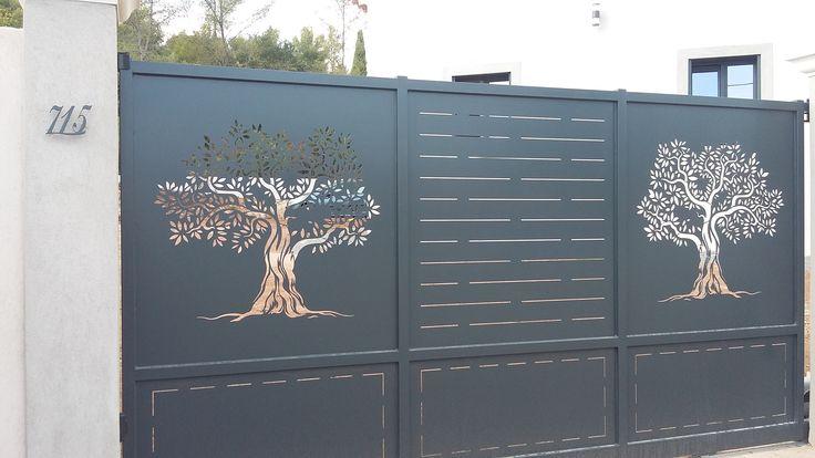 Portail découpe laser - Vente Portails Hyères Aix en Provence Cannes