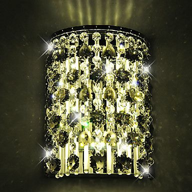 Crystal Wall Light,1 Light,Modern Metal Stainless Steel Electroplating – DKK kr. 364