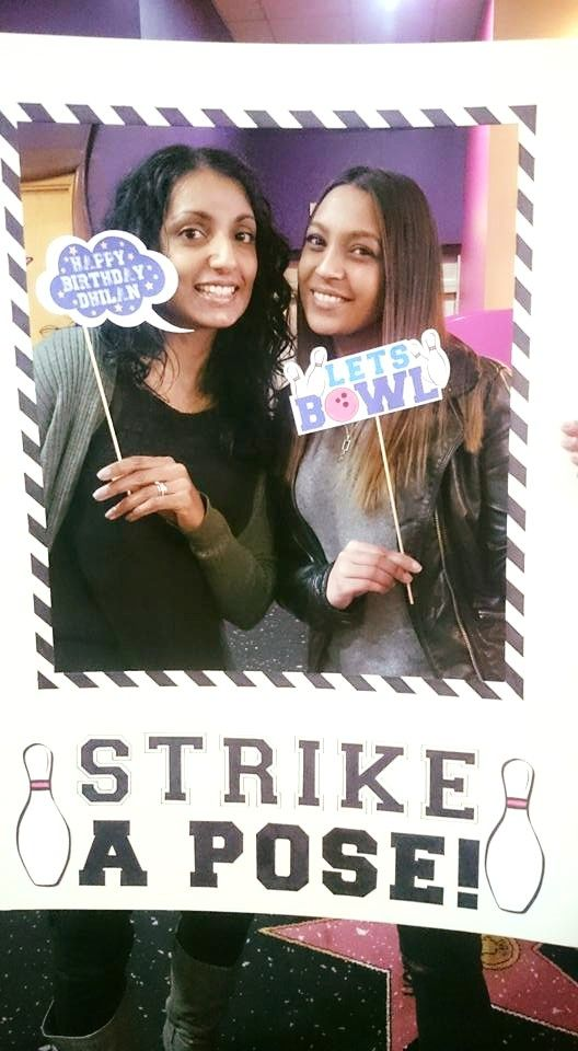 STRIKE A POSE!!! Bowling Birthday Party Fun, Photo frame, Photo booth More