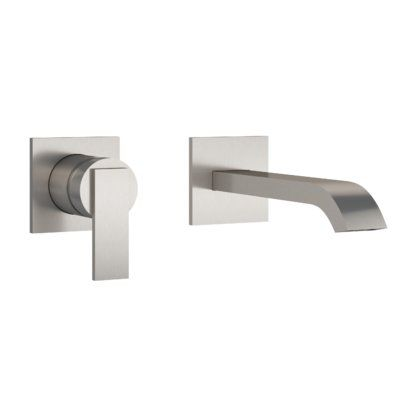 Jacuzzi Mincio Wall Mounted Bathroom Faucet Finish Brushed