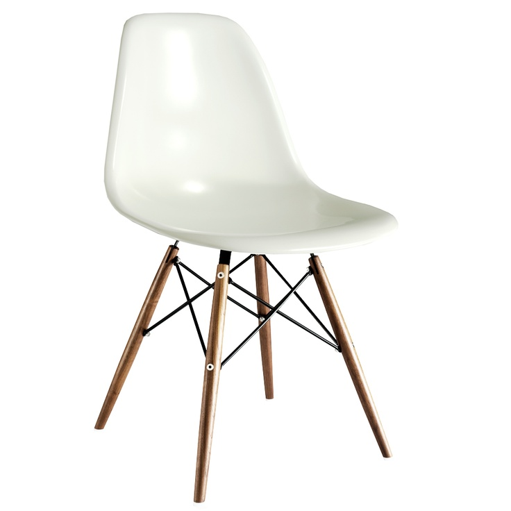 Eames Plastic Side-Chair with Wooden Legs. Would fit great at future-Victor's dining table