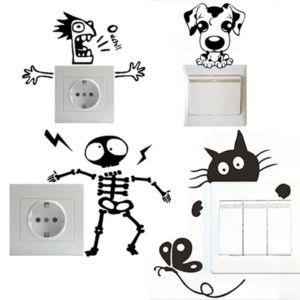 Adesivi decorativi prese elettriche