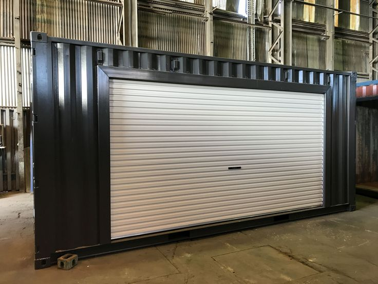 Something a little different. Customer wanted the roller doors inserted into the side of the container