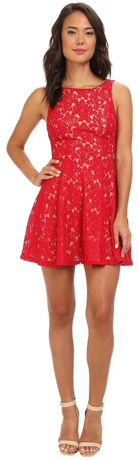 $59, Gabriella Rocha Lace Tank V Neck Fit Flare. Sold by Zappos. Click for more info: https://lookastic.com/women/shop_items/197969/redirect