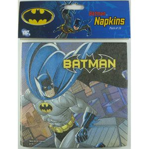 Let's Party With Balloons - Batman Napkins, $8.00 (http://www.letspartywithballoons.com.au/batman-napkins/)