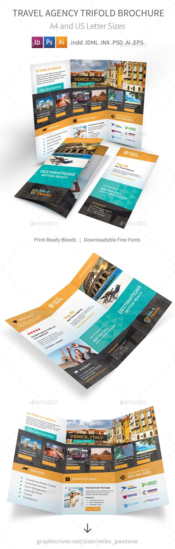 Travel Agency Trifold Brochure 2
