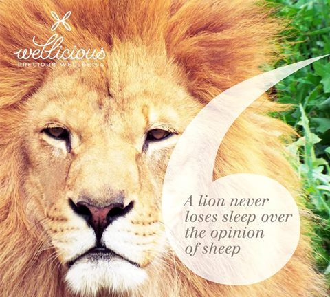 """A lion never loses sleep over the opinion of a sheep"""