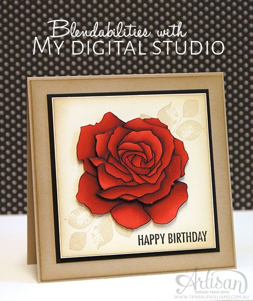 Teneale Williams   Stampin Up!  Artisan  Blog Hop   Blendabilities with MDS