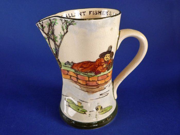 Royal Doulton Series Ware 'Gallant Fishers' Tudor Jug D3680 c1915