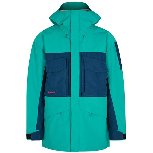 The North Face Fantasy Ridge GORE-TEX Jacket (£360) ❤ liked on Polyvore featuring men's fashion, men's clothing, men's outerwear, men's jackets, mens zip jacket, mens zipper jacket, mens embroidered jacket, the north face mens jackets and mens gore tex jacket