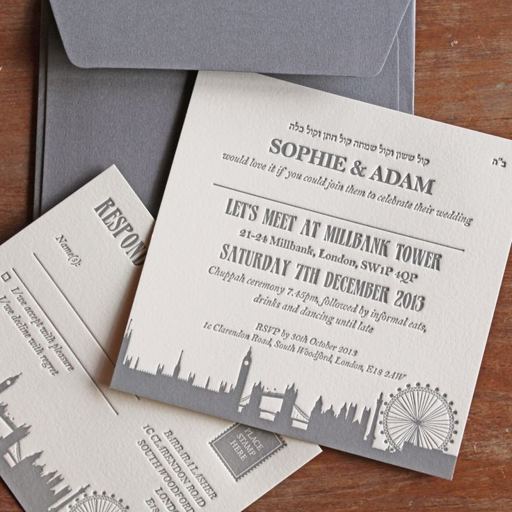 17 best London inspired Wedding images on Pinterest | Invitations ...