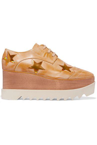 Stella McCartney - Faux Leather Platform Brogues - Gold - IT36.5