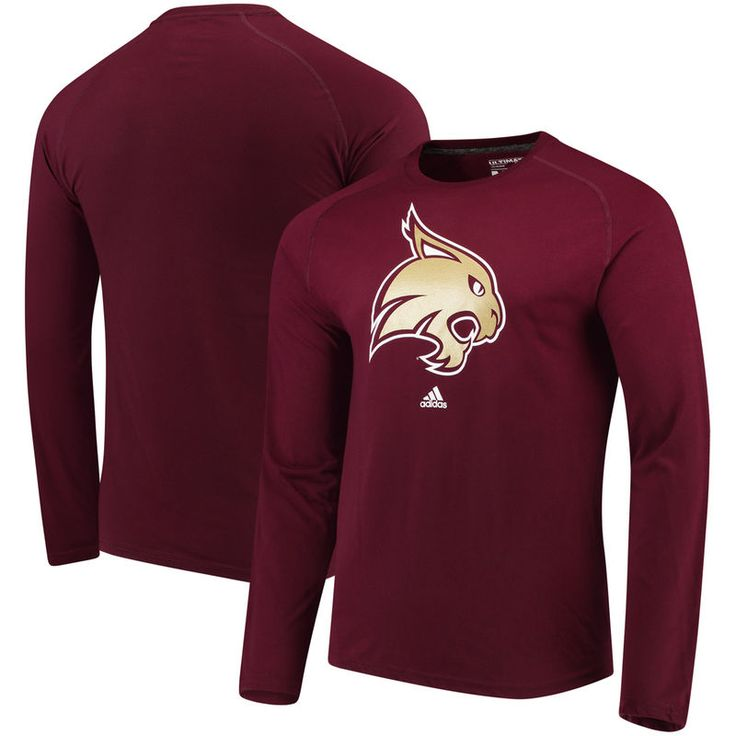 Texas State Bobcats adidas Logo Ultimate Performance Long Sleeve T-Shirt - Maroon