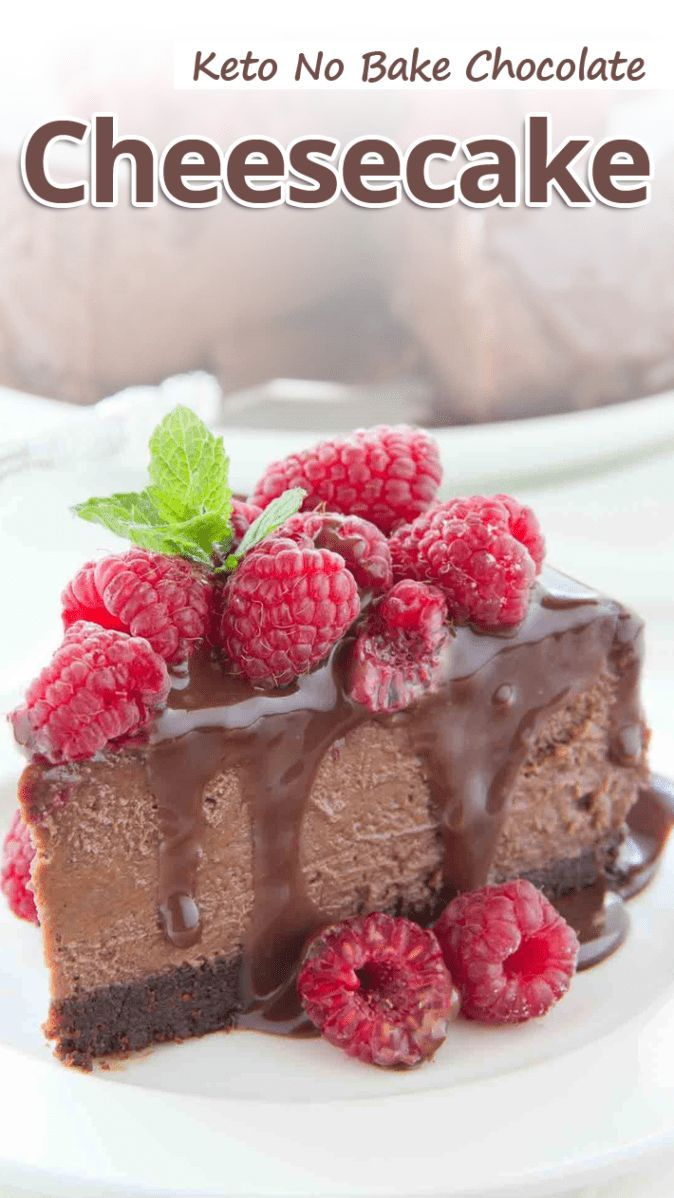 """This rich and decadent Low Carb No Bake Chocolate Cheesecake with Rich Chocolat"