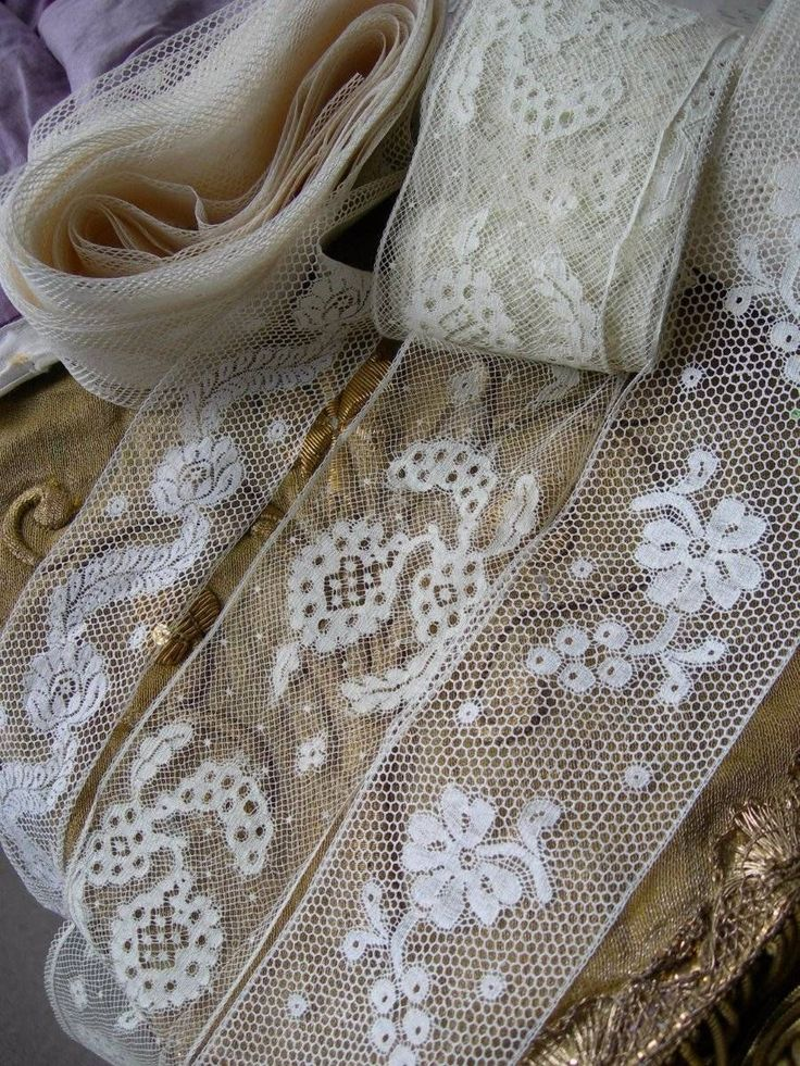 Beautiful French Lace Insertions ~