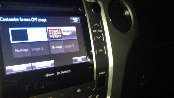 How To Customize 2014 Tundra Entune Display Images
